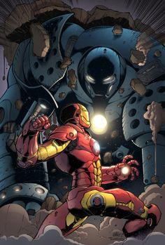 Iron Man vs Iron Monger by SiriusSteve on deviantART