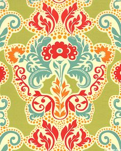 'Grand Tapestry' from the 'Secret Garden' collection by Sandi Henderson for Michael Miller Fabrics.