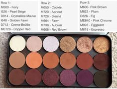 One of the best shadows I've come across. I n… Makeup forever artist shadows. One of the best shadows I've come across. I need the whole bottom row ughhh! Makeup Geek, Makeup Inspo, Makeup Remover, Makeup Inspiration, Makeup Tips, Makeup Products, Makeup Ideas, Beauty Products, Makeup Blog
