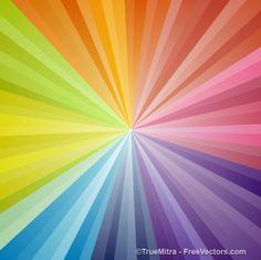 rainbow sunburst backdrop