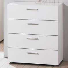 Billi Pepe 4 Drawer Chest in White
