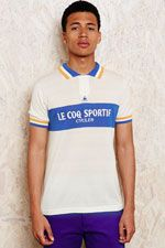 Le Coq Sportif Cycling Polo Shirt in Blue at Urban Outfitters Cycling Gear, White Shirts, Urban Outfitters, Polo Ralph Lauren, Boys, Polo Shirts, Mens Tops, T Shirt, Clothes