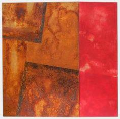 Stefan Philipps, Rost-Rot 405,   150 x 150 cm