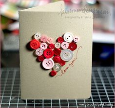 [DIY gift idea] Express your love: just do it yourself with buttons   with word love spelled out also on burlap??