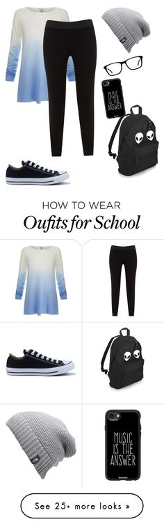 """Casual Everyday Outfit"" by cutelittlekittyinthecity on Polyvore featuring Joie, JunaRose, The North Face, Converse and Casetify"