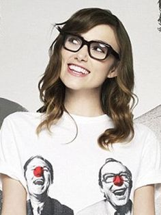 Keira Knightley with glasses.