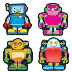 Carson Dellosa Robots Cut-Outs (120073) - Accent your classroom theme, encourage good behavior, create award, and so much more with these colorful cut-outs!