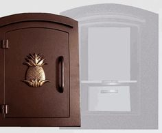 Manchester with security option, Decorative Pineapple, Antique Copper