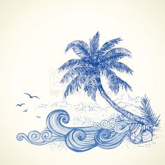 Hand drawn summer illustration.Elements are separate.More works like this in my portfolio.