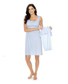 8cffe583ecf85 Nicole Maternity/Nursing Nightgown & Matching Baby receiving Gown Set