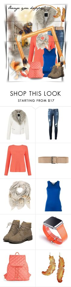 """""""Trendy Style: Orange You Happy!"""" by wanda-india-acosta ❤ liked on Polyvore featuring AG Adriano Goldschmied, John Lewis, Ermanno by Ermanno Scervino, Sophie Darling, MICHAEL Michael Kors and LeSportsac"""