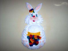 coelha de páscoa em feltro por Flor de Algodão