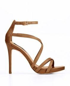 Lia Strappy Leather Platform Sandals $128.00