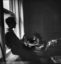 robert and mary frank, new york, 1949 - by elliott erwitt