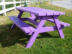 Custom built big kid picnic table in any colour you want!