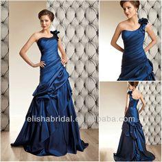 Something Blue! Elegant One-shoulder Ruched Ruffle Royal Blue Wedding Dresses - Buy Royal Blue Wedding Dresses,New Model 2014 Wedding Dress,2014 Elegant Bri...