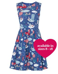 **PRE ORDER** Emily and Fin Lucy dress, seaside print : Aspire Style
