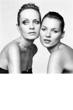 Twiggy and Kate Moss