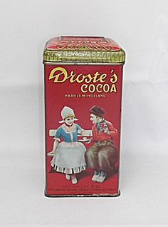 Vintage Drostes Cocoa Tin - My grandpa kept his spare change in one of these and would fish out a quarter for me to buy M&Ms when I visited...miss him...good memories!