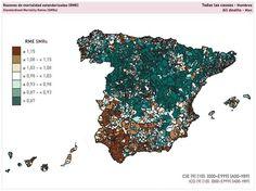 Imagen 1: Razones de mortalidad estandarizadas. Todas las causas. Hombres. Fuente: Atlas de mortalidad en municipios y unidades censales de ...