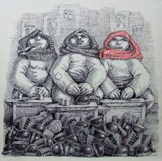 Houmam Alsayed  Art Fair Bierut ,2013 50x50 cm Ink on Paper