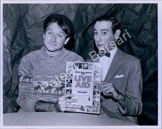 Pee Wee Herman with Robin Williams