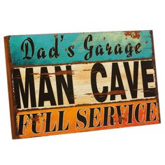 Dad's Garage - Man Cave Wooden Sign $14.99