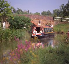 Float along a UK canal on a narrowboat.
