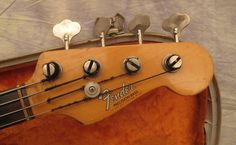 Glorified Guitars — 1966 Fender Precision Bass Stripped from Sunburst...