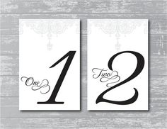 INSTANT DOWNLOAD - Antique Gate Design Wedding Reception Table Numbers DIY 1-10 Print-Ready 6x4""