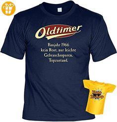 Lustiges T-Shirt zum 51. Geburtstag für das Geburtstagskind Oldtimer Baujahr 1966 mit Gratis Mini-Shirt Set 51 Geburtstag 51 Jahre Geschenk - Shirts zum geburtstag (*Partner-Link)