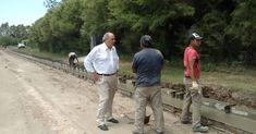 El intendente Hirtz recorrió obras de cordón cuneta en nuestra ciudad