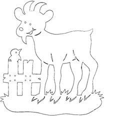 koza Paper Cutting, Kirigami, Cut Animals, Easter Holidays, Scroll Saw, Wood Carving, Sheep, Coloring Pages, Xmas