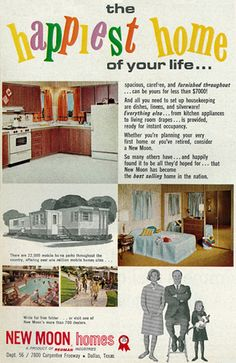 1966 Mobile Home Sales Ad, New Moon Homes, Dallas, Texas