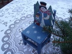 Toy Christmas chairwood  Hand painted strong by HuntWithJoy, $9.90
