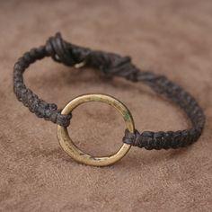 Adjustable Bracelet with Antique African Brass by losttribedesigns