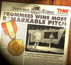Frommees has won the most remarkable pitch award at The Next Web Conference 2012 in Amsterdam.  The jury was led by Werner Vogels Vicepresident of Amazone