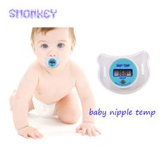 Portable electronic baby Thermometer Digital LCD Baby Pacifier Nipple temp monitor Mouth Thermometer baby supplies healthy care