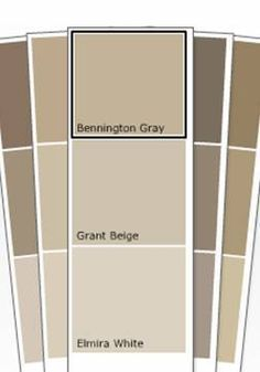 bennington gray benjamin moore paint - Supposed to go great with gray and is a great neutral! love my bennington gray. Room Colors, Wall Colors, House Colors, Best Neutral Paint Colors, Paint Colors For Home, Paint Colours, Bennington Gray, Living Colors, Benjamin Moore Paint