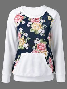 Floral Elbow Patch Sweatshirt