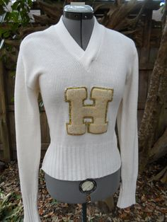 Vintage 50s VARSITY womens V NECK letterman sweater cheerleading uniform on Etsy, $40.00