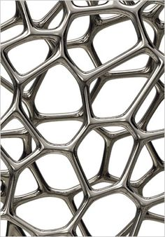 Silver Random Pak Chair (detail) by Marc Newson 3d Texture, Texture Design, Arte Yin Yang, Design Transparent, Gagosian Gallery, Plasma, Digital Fabrication, Top Interior Designers, 3d Prints