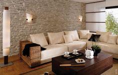 Wandgestaltung mit Stein Lajas