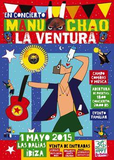CONCIERTO DE MANU CHAO EN LAS DALIAS DE IBIZA. #LasDaliasdeIbiza #30yearsLasDaliasHippyMarket #feelLasDalias #Ibiza2015 #ManuChao2015