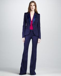 Rachel Zoe Hutton Flared Suit & Morrison Scarf Top