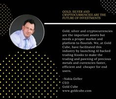 GoldCube Kiosks have made it easier for people to buy, sell and trade in cryptocurrencies and precious metals. Visit our website to know more about GoldCube Kiosk.  #gold #silver #cryptocurrency #bitcoin Kiosk, Cryptocurrency, Precious Metals, Cube, Investing, Website, People, Silver, Gold