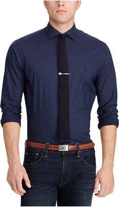 Polo Ralph Lauren Men s Slim Fit Cotton Paisley Dot Shirt Slim Man 27fbd0df782