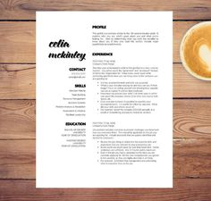 creative resume template for word letter 3 page resumes included cover ref cv