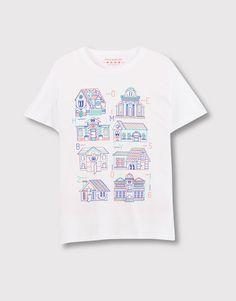 Pull&Bear - hombre - camisetas - camiseta print delantero - blanco - 09237504-I2016
