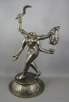 BRONZE-STATUE-OF-HEADLESS-FEROUCIOUS-HINDU-GODDESS-CHINNAMASTA-mahavidya-INDIA